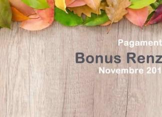 Tutte le info sui pagamenti del Bonus Renzi a Novembre 2018