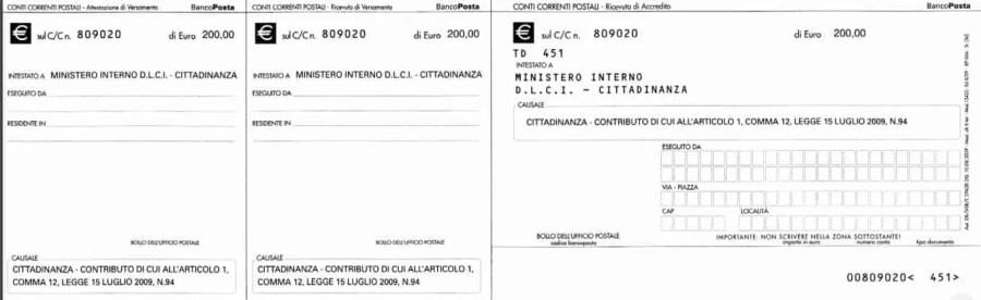 cittadinanza italiana 2019 modulo di domanda documenti