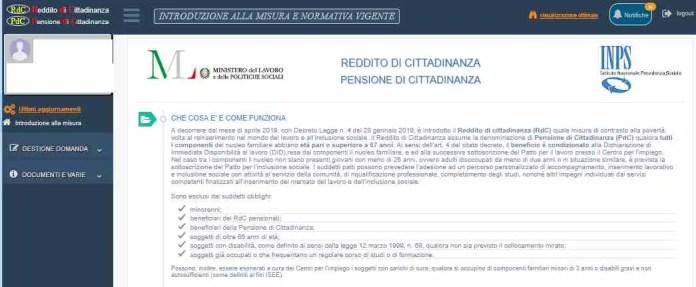 Servizio online Inps Reddito di cittadinanza e pensione di cittadinanza