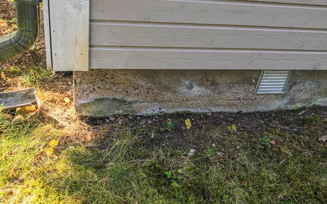 Rakennuksen salaojittamisesta ja perusmuurin vedeneristyksestä