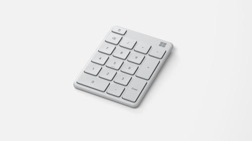 O simpático teclado numérico Bluetooth® da Microsoft