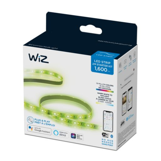 Uma smart fita de LED da WiZ Connected passa na Anatel