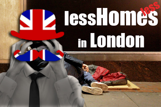 Less Home[less]s in London