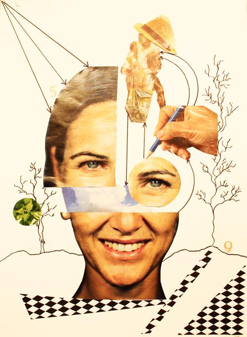 AKADEMIA 2017 Collage MARISA ALONSO 40x30cm Primer premio