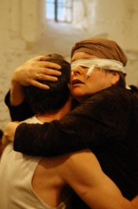 Paul Paxton and Maxine Fay in Oedipus Rex, 2007 (photo: Christine Cellier)