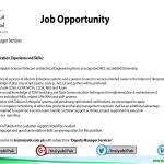 Job Opportunity-Deputy Manager Services