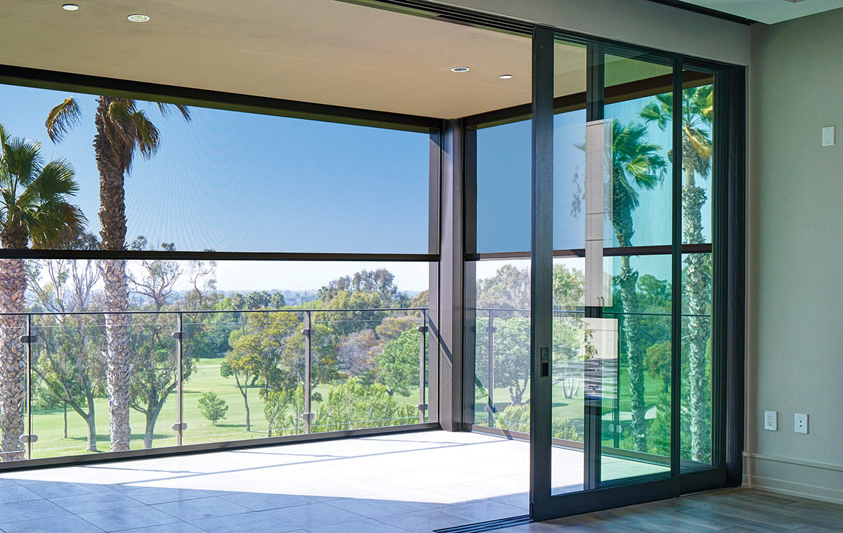 hight resolution of oasis 2900 retractable insect screen balcony