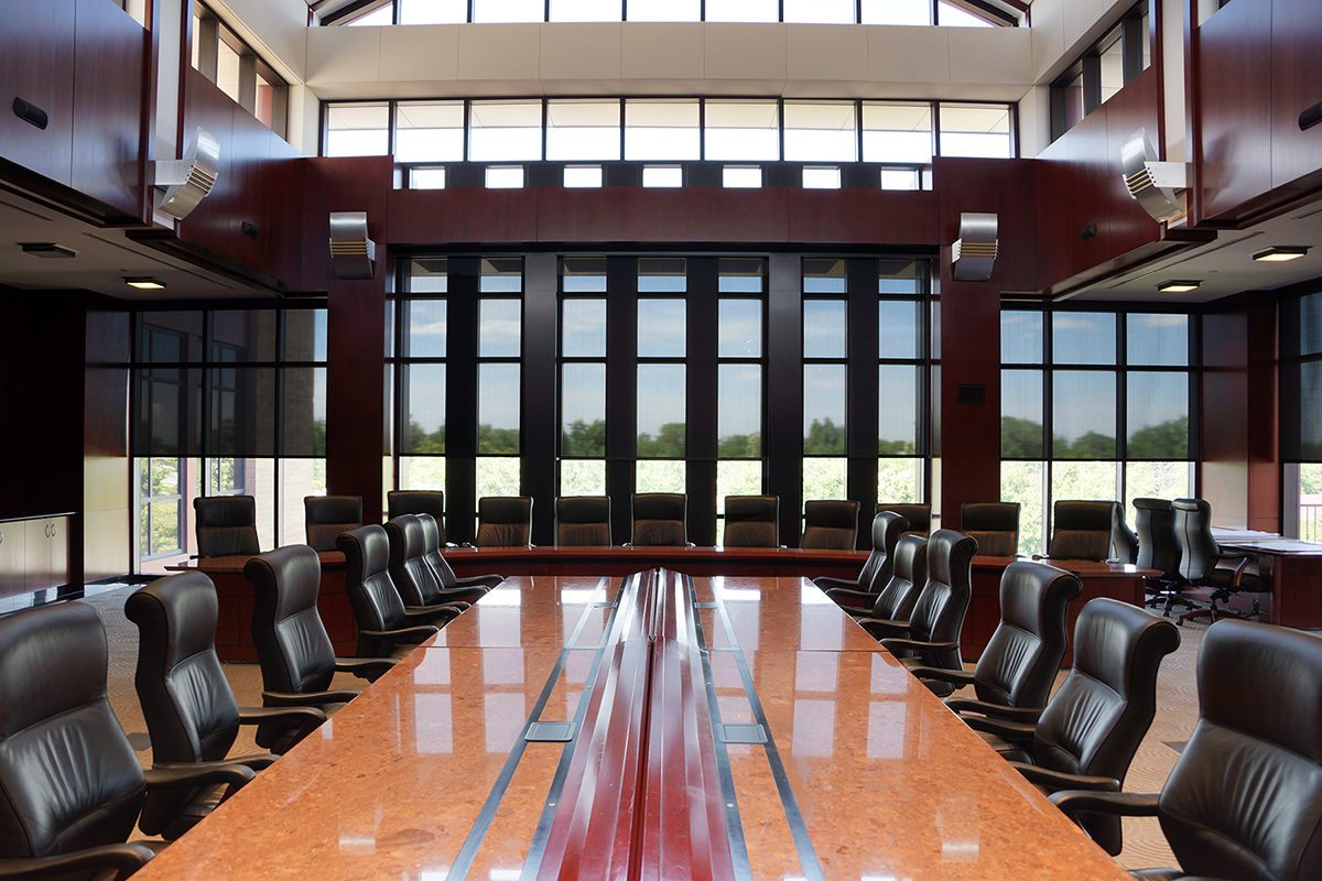 hight resolution of insolroll motorized solar shades conference room