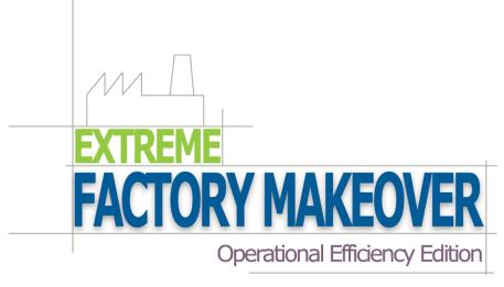 Extreme Factory Makeover Logo