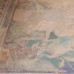 Detail of Cosmos mosaic, Casa del Mitreo