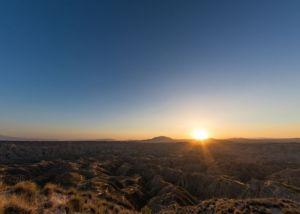 sunset at Gorafe desert, Granada