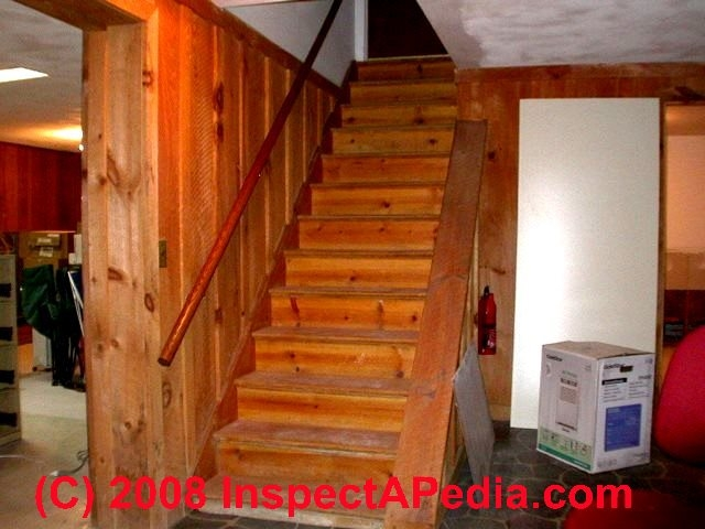 Basement Stairways Guide To Stair Railing Landing Construction | Floor Opening For Basement Stairs | L Shaped | Foyer | Both Side | Interior | 8 Foot Ceiling
