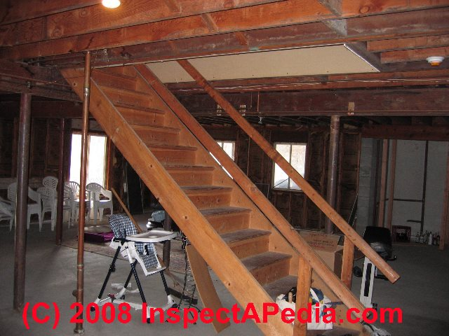 typical basement stairs in a modern home