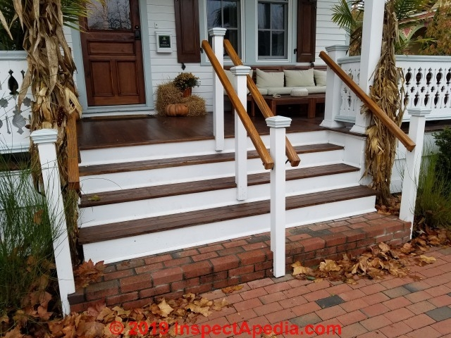 Handrailings On Wide Stairways Handrail Spacing Distances | Commercial Handrails For Outdoor Steps | Simplified Building | Stair Treads | Porch | Front Porch | Custom