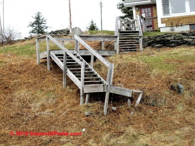 Exterior Stairways Guide To Outdoor Stair Railing Landing | Exterior Wood Stair Railing | Stone | Timber | Second Floor | Landing | Step