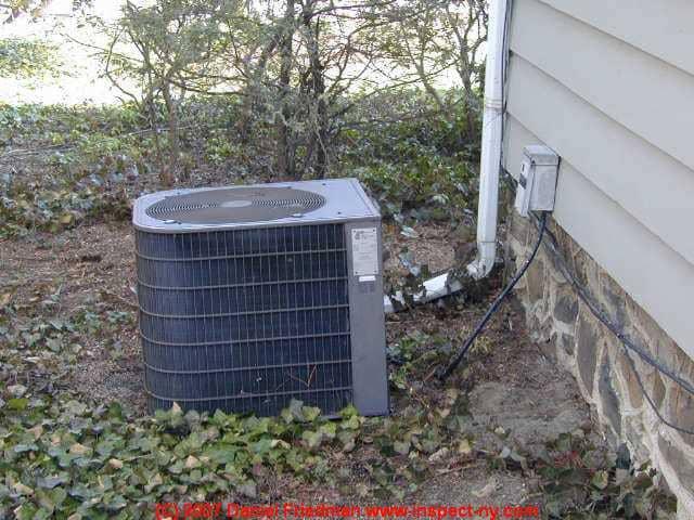 Heat Pump Unit Mounted Side House