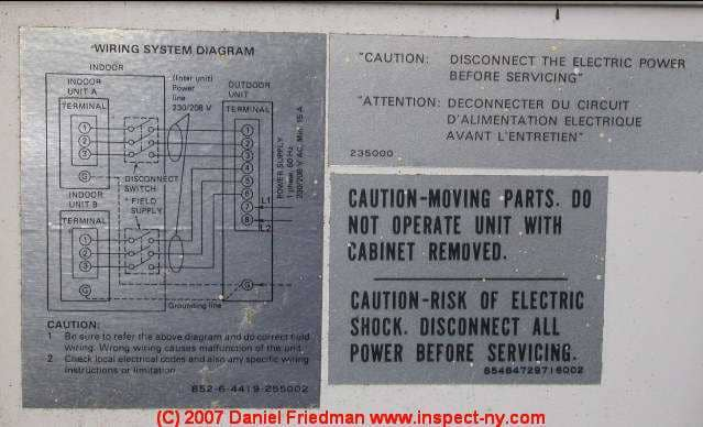 Split System Air Conditioner Wiring Diagram