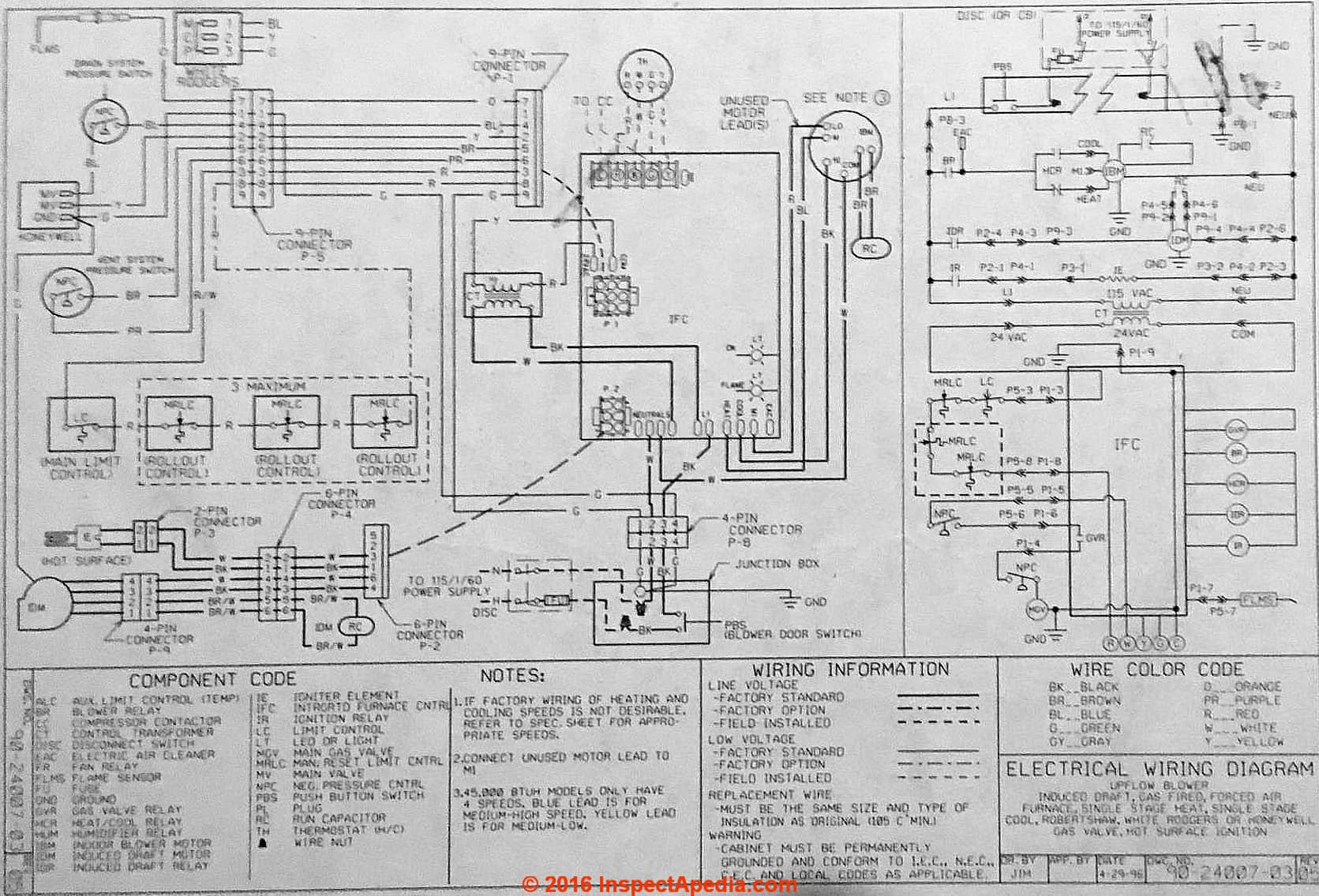 Rheem Wiring Diagram Air Handler