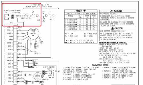 small resolution of trane blower compartment door switch wiring c inspectapedia trane com