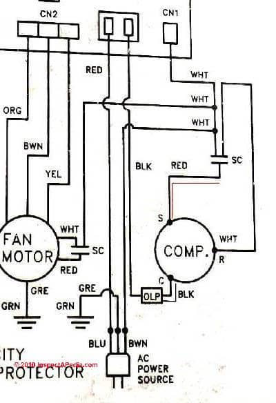 ac condenser fan motor wiring diagram on dual run capacitor
