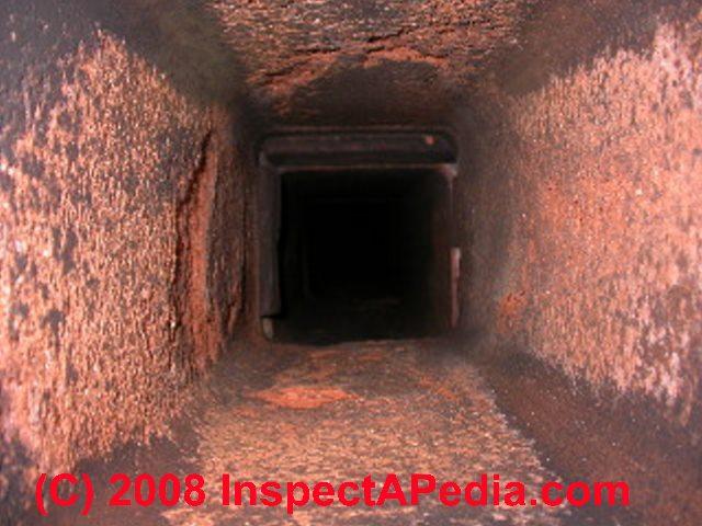 chimney flue tile or flue liner damage