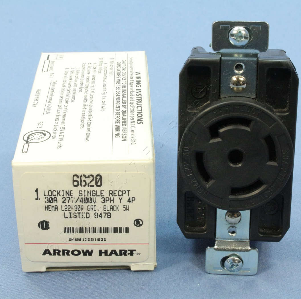 hight resolution of arrow hart 30 a locking receptacle at inspectapedia com