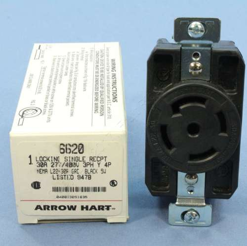 small resolution of arrow hart 30 a locking receptacle at inspectapedia com