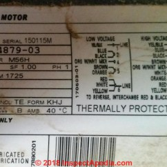 Wiring Diagram For 230v Single Phase Motor Utility Trailer Repair Electric Starting Capacitor Selection Data Tag An Ao Smith C Inspectapedia Com