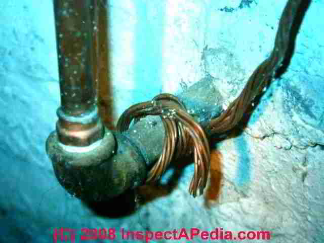 typical house electrical wiring diagram 4 wire submersible well pump old inspection repair grounding knob absence of good at older homes