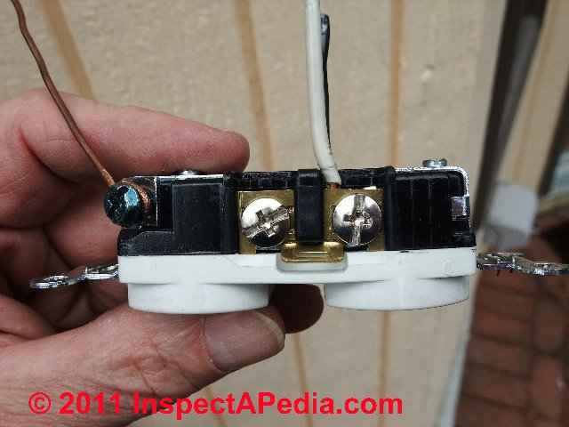 wiring diagram for house plugs 7 pin trailer with brakes electrical outlet wire connections - receptacle or wall plug connection details. how to ...