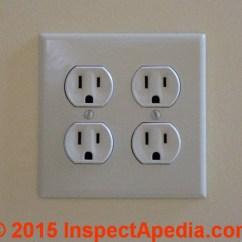 Double Duplex Outlet Wiring Diagram Harbor Breeze Ceiling Fan Light Kit Electrical Receptacle Wire Connections - Details