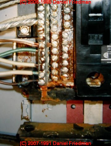 Cable Main Fuse Box Rust And Corrosion In Electrical Panels A Study And