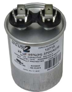 Ao smith or other motor replacement capacitor mfd  at inspectapedia also electric starting selection rh