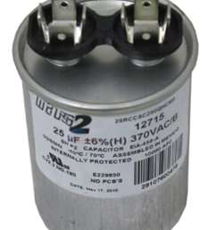 ao smith or other motor replacement capacitor 25mfd 370v 628318 307 at inspectapedia [ 1102 x 1512 Pixel ]