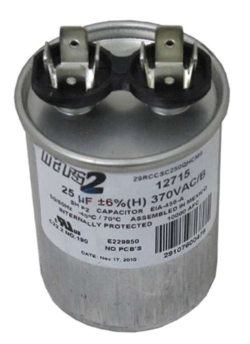 small resolution of ao smith or other motor replacement capacitor 25mfd 370v 628318 307 at inspectapedia