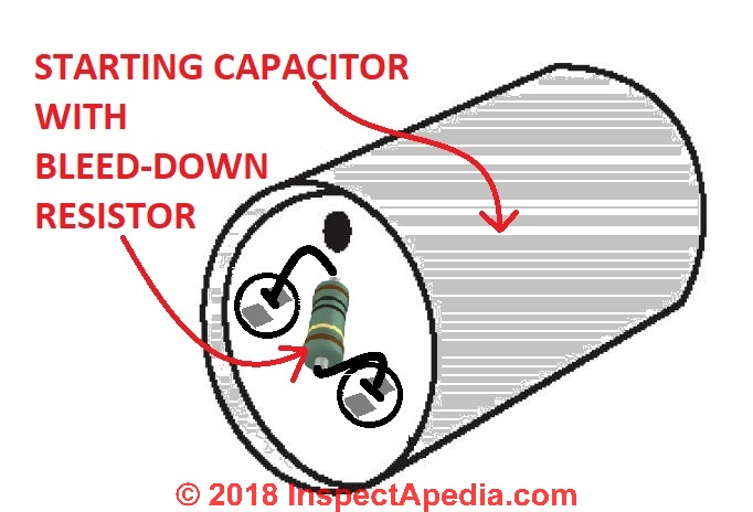 refrigerator start relay wiring diagram 2003 toyota camry exhaust system electric motor run capacitor operation bleed through resistors on starting capacitors