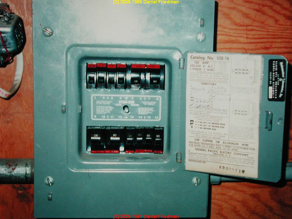 hight resolution of photo of a small stab lok panel with the labeling visible