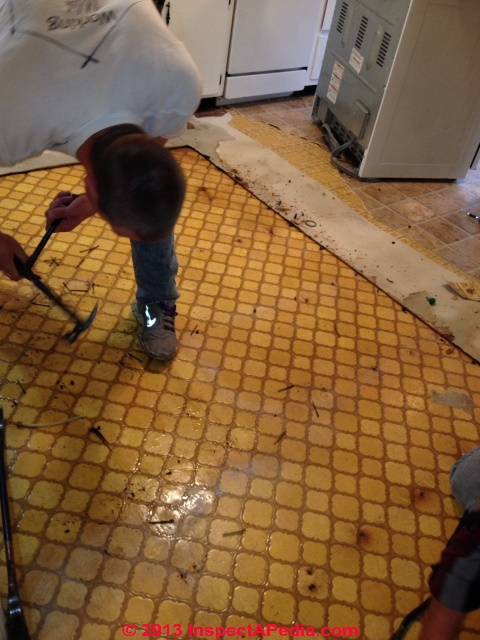 1970s Floor Tiles That May Contain Asbestos