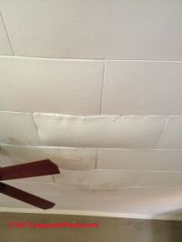 How to tell if ceiling tiles contain asbestos - Identify ...