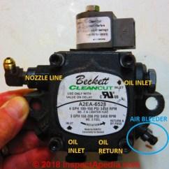 Beckett Oil 3 Position Remote 2018 Burner Piping Air Removal Bleeding Procedure Fuel Unit Pump C Daniel Friedman At Inspectapedia