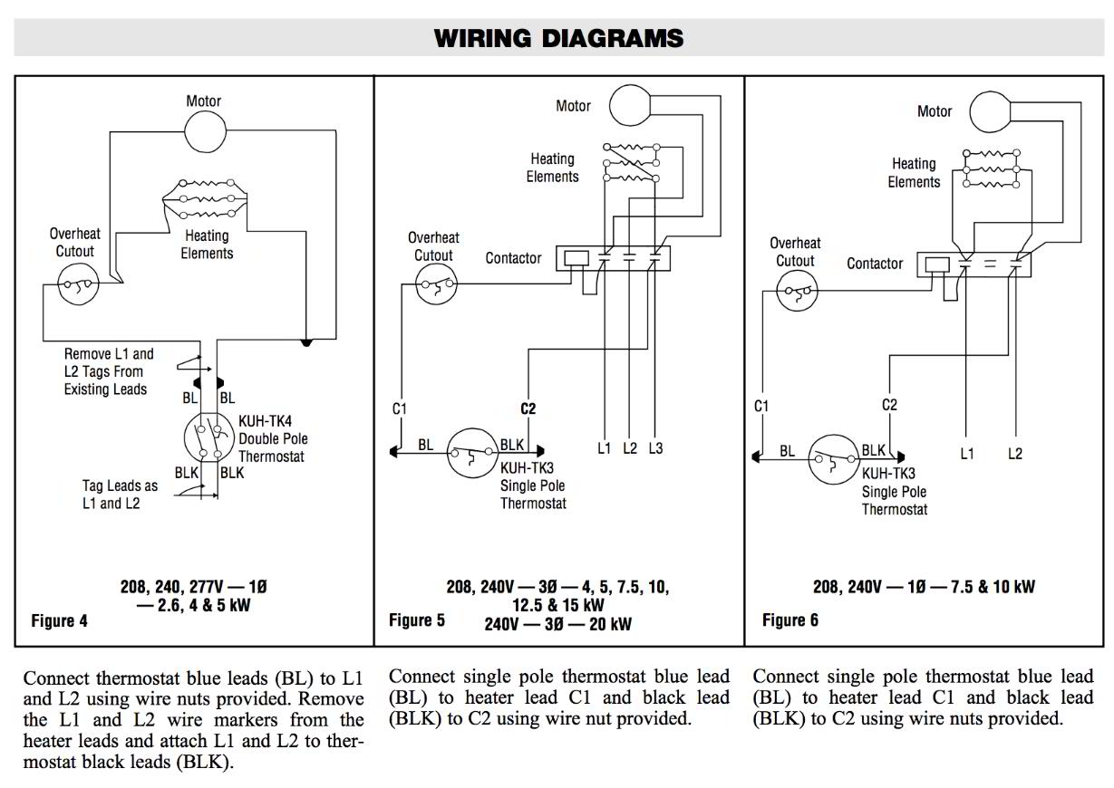 hight resolution of room thermostat wiring diagrams for hvac systemschromalox thermostat wiring diagram kuh tk3 kuh tk4 see instructions