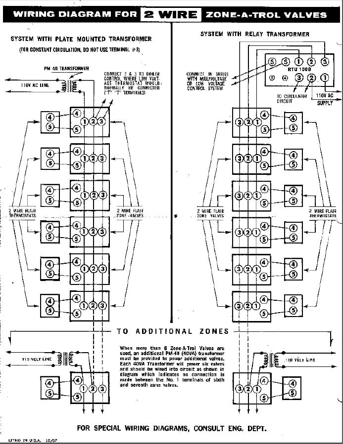 6 wire zone valve wiring diagram