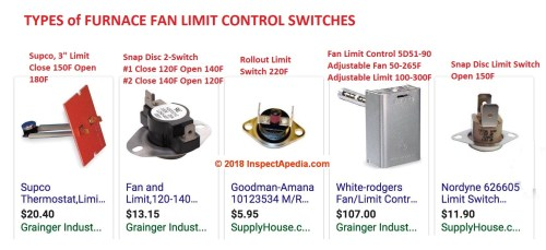 small resolution of types of furnace fan limit control switches c inspectapedia com