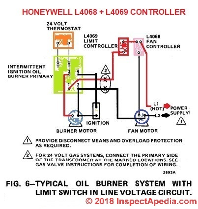 diagram motor control wiring energy level for carbon how to install wire the fan limit controls on furnaces honeywell l4068 4069 furnace controller