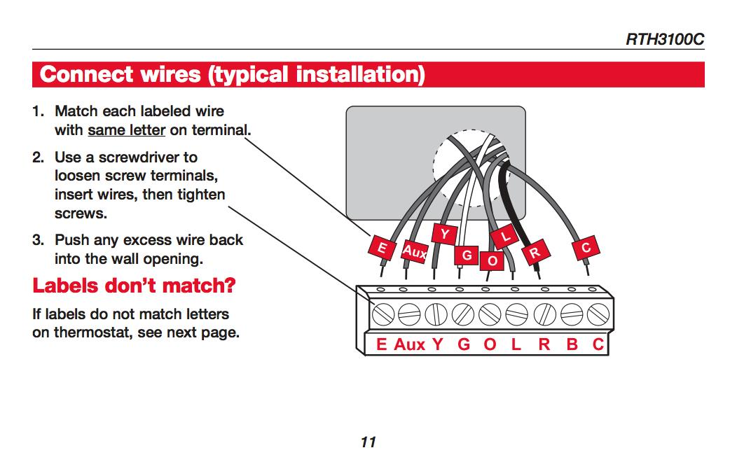 Honeywell Thermostat Wiring Diagrams Wiring Wiring Diagram And