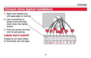 Wiring Diagram For Honeywell Thermostat Rth111b1016