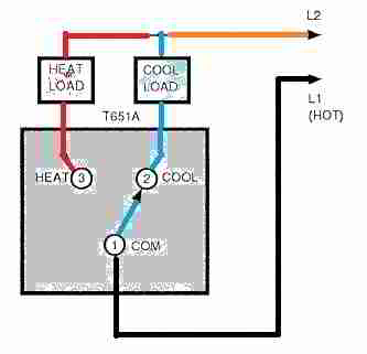 line voltage thermostat wiring diagram reznor thermostats for heating cooling honeywell