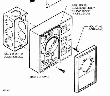 Honeywell Line Voltage Thermostat Wiring Diagram : 48