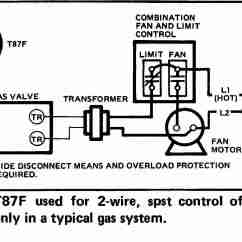 Hvac Wiring Diagram Thermostat Trailer Plug Heat Diagrams Room For Systemshoneywell T87f 2 Wire Spst