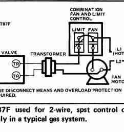 honeywell t87f thermostat wiring diagram for 2 wire spst control of heating only in [ 1458 x 980 Pixel ]